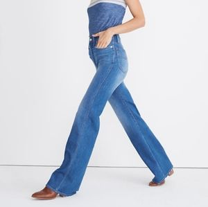 """Madewell 11"""" High Rise Flare Jeans in Mossbrook size 23 NWT"""